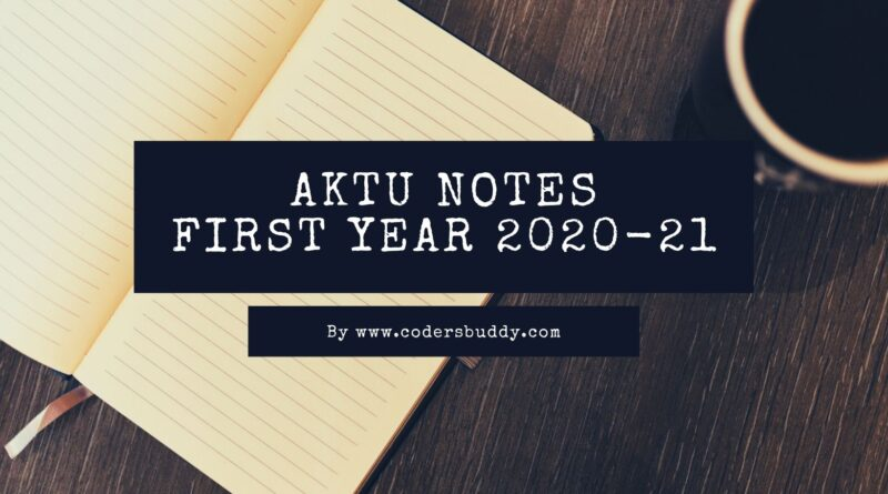 aktu notes btech first year